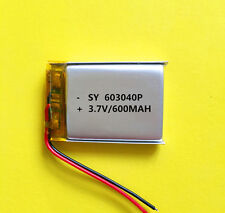 603040 3.7V 600mAh  Rechargeable Li-ion Battery For Airplane Model Bluetooth UK