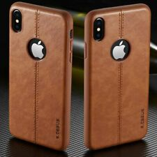 Luxury Leather Back Case Shockproof Ultra Thin Tpu Plain Slim Cover For iPhone