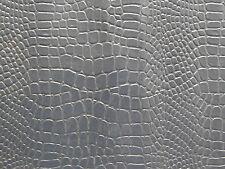 "Navy Blue Crocodile Faux Leather 12"" x 8"" Sample Piece 99p"