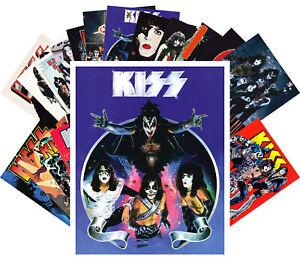 Postcard Pack (24 pcs) Kiss Vintage Rock Band Music Poster CC1200