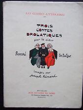 [Illustré] BALZAC - Trois Contes Drolatiques - Gravures de Joseph HEMARD EX N°