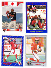 QB DANNY BARRETT STAMPS CFL LOT OF 4 CFL