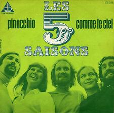 LES 5 SAISONS PINOCCHIO / COMME LE CIEL FRENCH 45 SINGLE JOËL CADORET DEDICACE