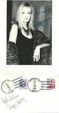 AUTOGRAPH, 1992, LESLIE LAWSON, TWIGGY SIGNED AMERICAN COVER, + PHOTO