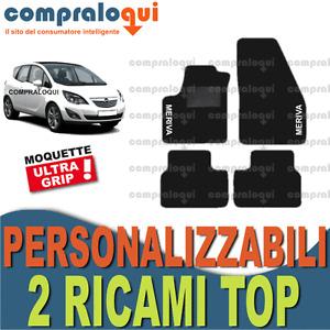 Top QUALITY UNIVERSALE VAUXHALL MERIVA NERO IN GOMMA AUTO Stampato ANTIBECCHEGGIO Set Completo