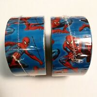 """Lot Of 2 Spiderman Marvel Duck Brand Duct Tape 1.88"""" x 10 Yards, Sealed and New"""
