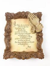 Our Father Prayer Picture Words In Frame Engraved
