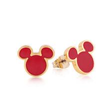 Disney Couture Reino Mickey Mouse 90 Años Chapado en Oro Rojo Dormilonas