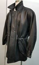 Robert Comstock Endurance Leather Glove Jacket Size 40 Hip Length Zipper & Snaps