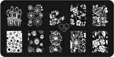 Verano Rosas de Flores para Uñas Stamping Placa Placas De Diseños De Imagen del sello vendedor de Reino Unido
