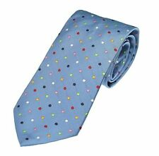 Luxury Light Blue Multi Spot English Silk Polka Dot Tie (6-FT114)