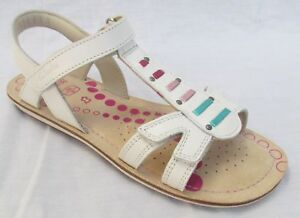 NEW Clarks Ayla Moon Girls White Leather Sandals