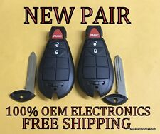 NEW PAIR REPLACEMENT DODGE CHRYSLER KEYLESS ENTRY REMOTE FOB FOBIK M3N5WY783X