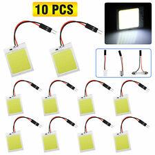 10pcs 48SMD COB White LED T10 BA9S Car Interior Panel Light Dome Map Lamp Bulbs