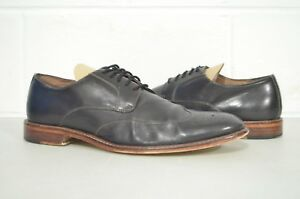 Banana Republic 10.5 M Digby Brogue Black Leather Lace Up Dress Shoes