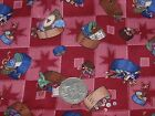 Dusty Pink Sewing Box Themed Cotton Fabric - Craft Quilting Patchwork 57x50cm FQ