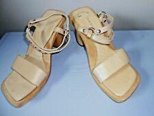 WOMEN'S  Tan Wood Sandal  by Colin Stuart size 7 1/2