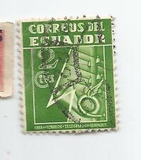 EQUADOR; CASAS DE CORREOS Y TELEGRAFOS 2 CENTAVOS;USED S*