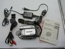 Sony Handycam Dvd-Dcr092 Camcorder W/ Ac Power Supply Charger, Book, Cords & Dvd