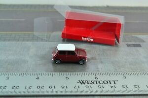 1:87 Herpa 022330 Mini Cooper jaune Faltdach Produit Neuf//Neuf dans sa boîte