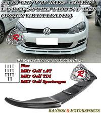 Euro-Style Front Lip (Urethane) Fits 15-17 VW MK7 Golf 7