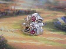 14k art deco diamond ruby ring