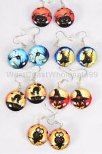 6 Pairs Fashion Earrings Halloween Double Sided Glass Jewelry Wholesale Lot USA