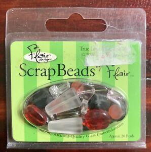"SCRAP BEADS""True Love Mix"" (Aprox.20 Beads) Flair Designs Paper Crafts Scrapb"