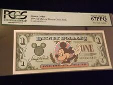 1996 $1   Mickey  Disney Castle Back    PCGS  67 PPQ