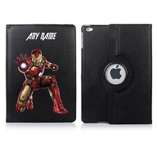 Iron Man Avengers Name Personalised iPad 360 Rotating Case Cover Birthday Gift