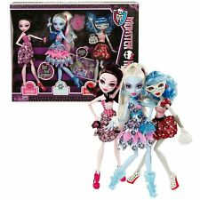 Monster High Doll Exclusive Dot Dead Gorgeous 3 Pack Draculaura, Abbey Bominable