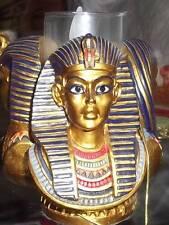 Ägyptischer Pharao Gott Tut-Ench-Amun Figur  Büste: 3er Pharao-Kerzenständer