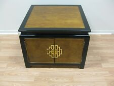 Century Chin Hua Burled 2 Door Cabinet End Table Square