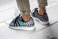 Scarpe da ginnastica grigi adidas per donna superstar