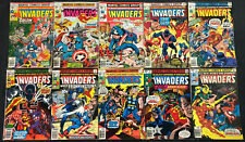 THE INVADERS BRONZE AGE COMIC LOT 10PC (VG-VF)