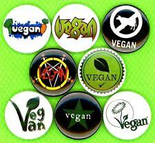"Vegan 8 NEW 1"" buttons pin badge animal liberation earth first STOCKING STUFFER"