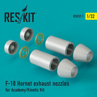 F-18 Hornet exhaust nozzles for Academy/Kinetic Kit 1/32 ResKit RSU32-0001