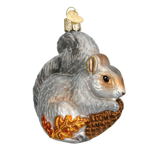 Old World Christmas HUNGRY SQUIRREL (12277)N Glass Ornament w/ OWC Box