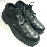 Timberland PRO Mens Titan Black Leather EH Safety Toe Shoes Non-Slip Sole-11.5 M
