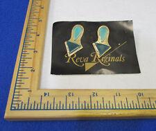 Ceramic Geometric Retro Dangling Pierced Earrings Gold Tone Arrow Teal Design
