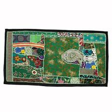 Vintage Embroidered Patchwork Indian Tropical Ethnic Tapestry Wall Hanging