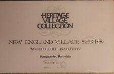 Dept 56 New England Village Series Mcgrebe Cutters & Sleighs