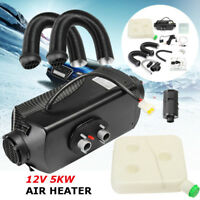 5kW 12V Air Diesel Heater 2xVent Duct For Car Trucks Motor-homes Boat Bus