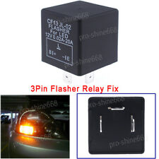 3-Pin Car Flasher Relay Fix LED Light Turn Signal Hyper Flash CF13 CF13JL EP34