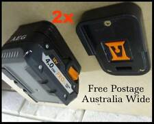 2x AEG 18v Battery Holder / Storage / AEG Battery Mount - Innovation Australia