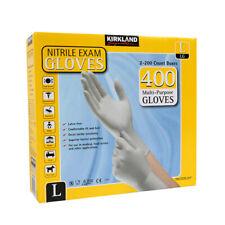 NITRILE GLOVES KIRKLAND 2X200 Count Boxes 400 Multipurpose GLOVES SIZE L