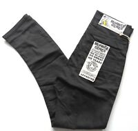Monkee Genes Unisex Slim Casual Pants Trousers Organic Cotton Curved  Fit Black