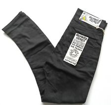 Monkee Genes Unisex Slim Curved Fit Pants Trousers Organic Cotton Black Size: 32