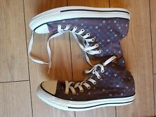 WOMENS LADIES PATTERNED HIGH TOP CONVERSE TRAINERS SIZE UK 7