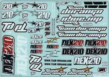 Team Durango DEX210V2 2wd buggy TD490020 Decal Sheet DEX210